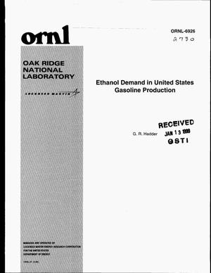 Primary view of object titled 'Ethanol Demand in United States Gasoline Production'.