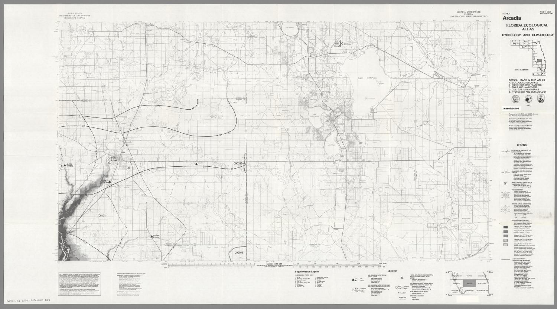 Map Of Arcadia Florida.Arcadia Hydrology And Climatology Digital Library