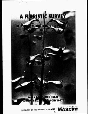 Primary view of object titled 'A floristic survey of Yucca Mountain and vicinity, Nye County, Nevada'.