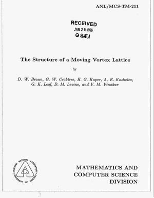 Primary view of object titled 'The structure of a moving vortex lattice'.