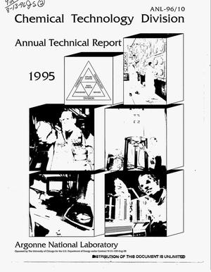 Primary view of object titled 'Chemical Technology Division. Annual technical report, 1995'.