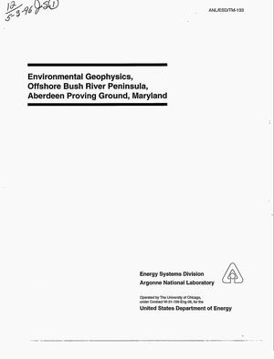 Primary view of object titled 'Environmental geophysics, offshore Bush River Peninsula, Aberdeen Proving Ground, Maryland'.