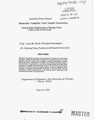 Primary view of object titled 'Molecular catalytic coal liquid conversion. Quarterly status report, April 1995--June 1995'.
