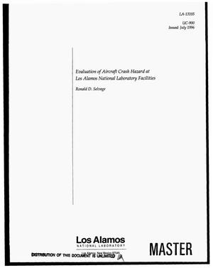 Primary view of object titled 'Evaluation of aircraft crash hazard at Los Alamos National Laboratory facilities'.