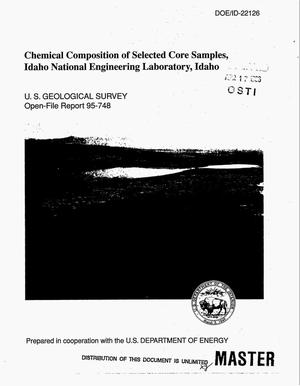 Primary view of object titled 'Chemical composition of selected core samples, Idaho National Engineering Laboratory, Idaho'.