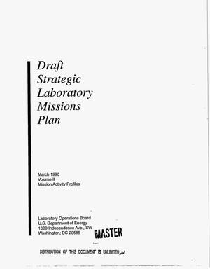 Primary view of object titled 'Draft Strategic Laboratory Missions Plan. Volume 2'.