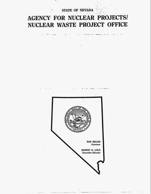 Primary view of object titled 'Review of the NAS/NRC report: {open_quotes}Groundwater at Yucca Mountain: How high can it rise?{close_quotes}. Special report No. 1'.