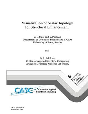 Primary view of object titled 'Visualization of scalar topology for structural enhancement'.