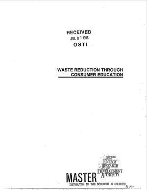 Primary view of object titled 'Waste reduction through consumer education. Final report'.