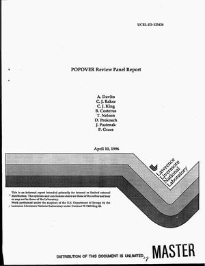 Primary view of object titled 'POPOVER Review Panel report'.