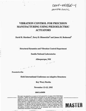 Primary view of object titled 'Vibration control for precision manufacturing using piezoelectric actuators'.