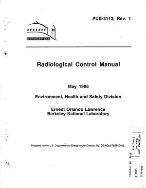 Primary view of object titled 'Radiological control manual. Revision 1'.