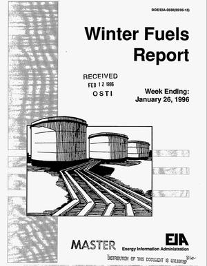 Primary view of object titled 'Winter fuels report. Week ending, January 26, 1996'.