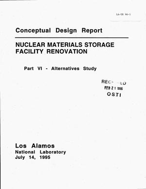 Primary view of object titled 'Conceptual design report: Nuclear materials storage facility renovation. Part 6, Alternatives study'.