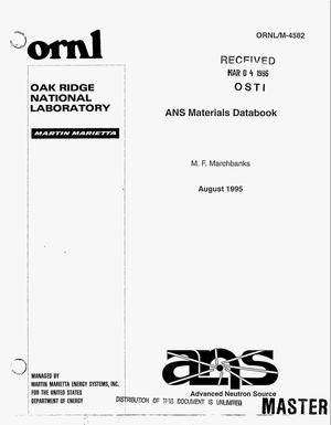 Primary view of object titled 'ANS materials databook'.