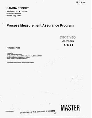 Primary view of object titled 'Process measurement assurance program'.