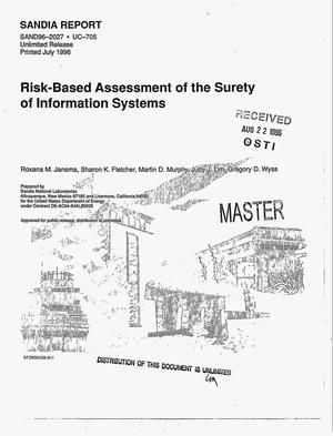 Primary view of object titled 'Risk-based assessment of the surety of information systems'.