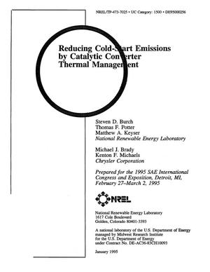 Primary view of object titled 'Reducing cold-start emissions by catalytic converter thermal management'.