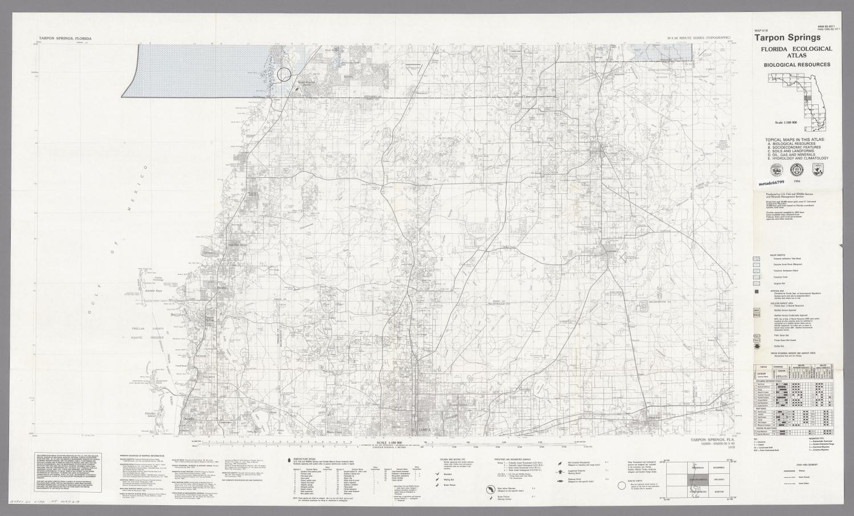 Map Tarpon Springs Florida.Tarpon Springs Biological Resources Digital Library