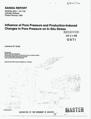 Primary view of object titled 'Influence of pore pressure and production-induced changes in pore pressure on in situ stress'.