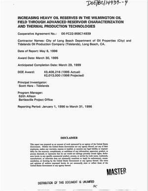 Primary view of object titled 'Increasing heavy oil reserves in the Wilmington oil field through advanced reservoir characterization and thermal production technologies. Technical progress report'.