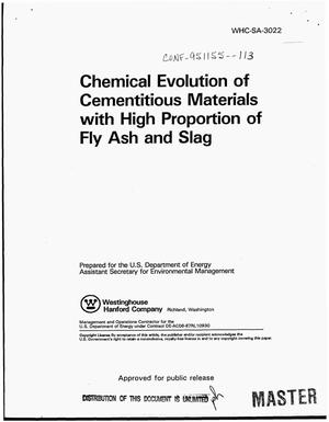 Primary view of object titled 'Chemical evolution of cementitious materials with high proportion of fly ash and slag'.