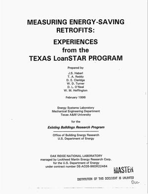 Primary view of object titled 'Measuring energy-saving retrofits: Experiences from the Texas LoanSTAR program'.