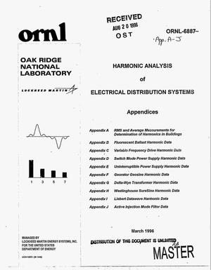 Primary view of object titled 'Harmonic analysis of electrical distribution systems'.
