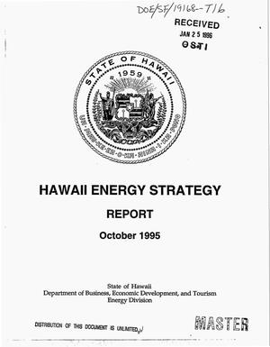Primary view of object titled 'Hawaii energy strategy report, October 1995'.