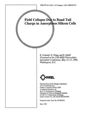 Primary view of object titled 'Field collapse due to band-tail charge in amorphous silicon solar cells'.