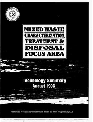 Primary view of object titled 'Mixed waste characterization, treatment & disposal focus area'.