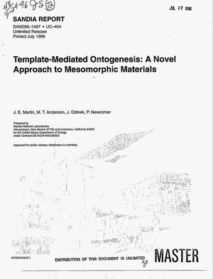 Primary view of object titled 'Template-mediated ontogenesis: A novel approach to mesomorphic materials'.