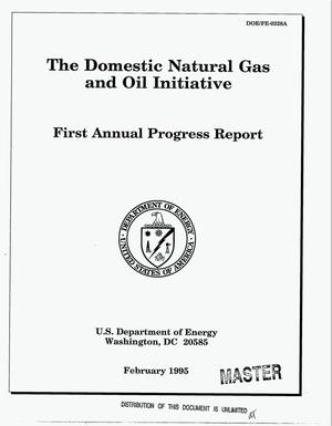 Primary view of object titled 'The domestic natural gas and oil initiatve. First annual progress report'.