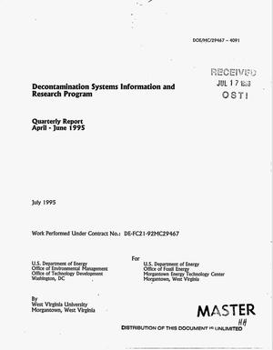 Primary view of object titled 'Decontamination systems information and research program. Quarterly report, April--June 1995'.