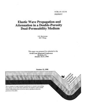 Primary view of object titled 'Elastic wave propagation and attenuation in a double-porosity dual-permeability medium'.