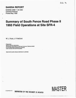 Primary view of object titled 'Summary of South Fence Road phase II 1993 field operations at Site SFR-4'.