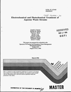 Primary view of object titled 'Electrochemical and photochemical treatment of aqueous waste streams'.