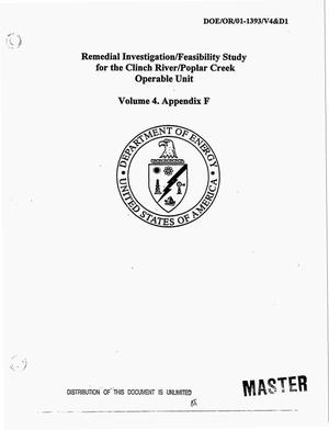 Primary view of object titled 'Remedial investigation/feasibility study for the Clinch River/Poplar Creek operable unit. Volume 4. Appendix F'.
