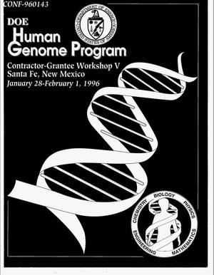 Primary view of object titled 'DOE Human Genome Program contractor-grantee workshop'.