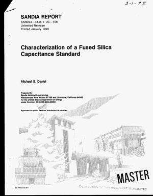 Primary view of object titled 'Characterization of a fused silica capacitance standard'.