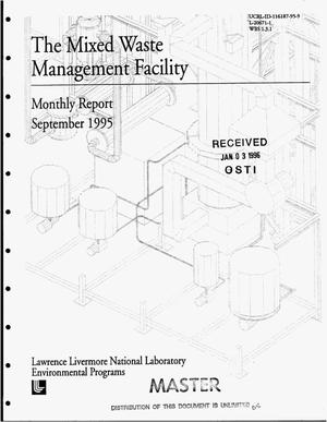 Primary view of object titled 'The mixed waste management facility. Monthly report, September 1995'.