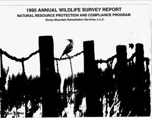 Primary view of object titled '1995 Annual wildlife survey report. Natural Resource Protection and Compliance Program'.