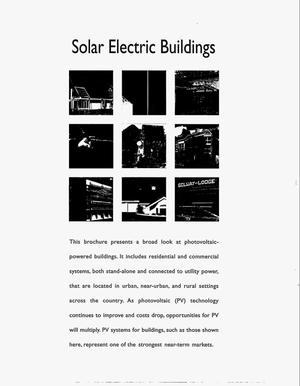 Primary view of object titled 'Solar electric buildings: An overview of today`s applications'.