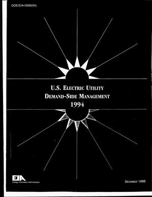Primary view of object titled 'US electric utility demand-side management, 1994'.