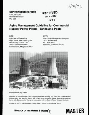 Primary view of object titled 'Aging management guideline for commercial nuclear power plants - tanks and pools'.