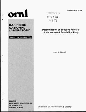 Primary view of object titled 'Determination of effective porosity of mudrocks: a feasibility study'.