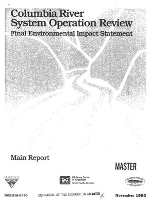 Primary view of object titled 'Columbia River System Operation Review : Final Environmental Impact Statement, Appendix D: Exhibits.'.