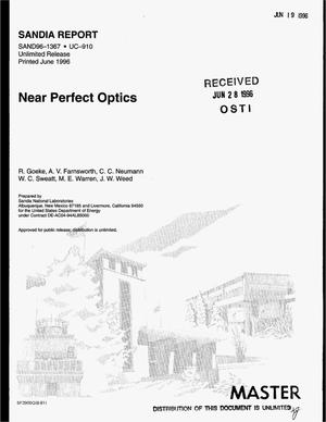 Primary view of object titled 'Near perfect optics'.