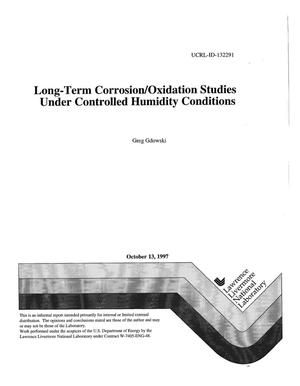 Primary view of object titled 'Long-term corrosion/oxidation studies under controlled humidity conditions'.