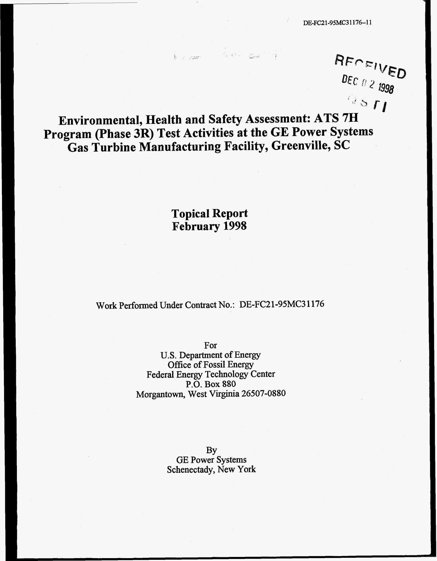 Environmental Health and Safety Assessment ATS 7H Program Phase